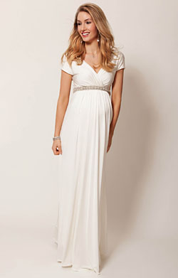 Alessandra Maternity Gown Long (Ivory)