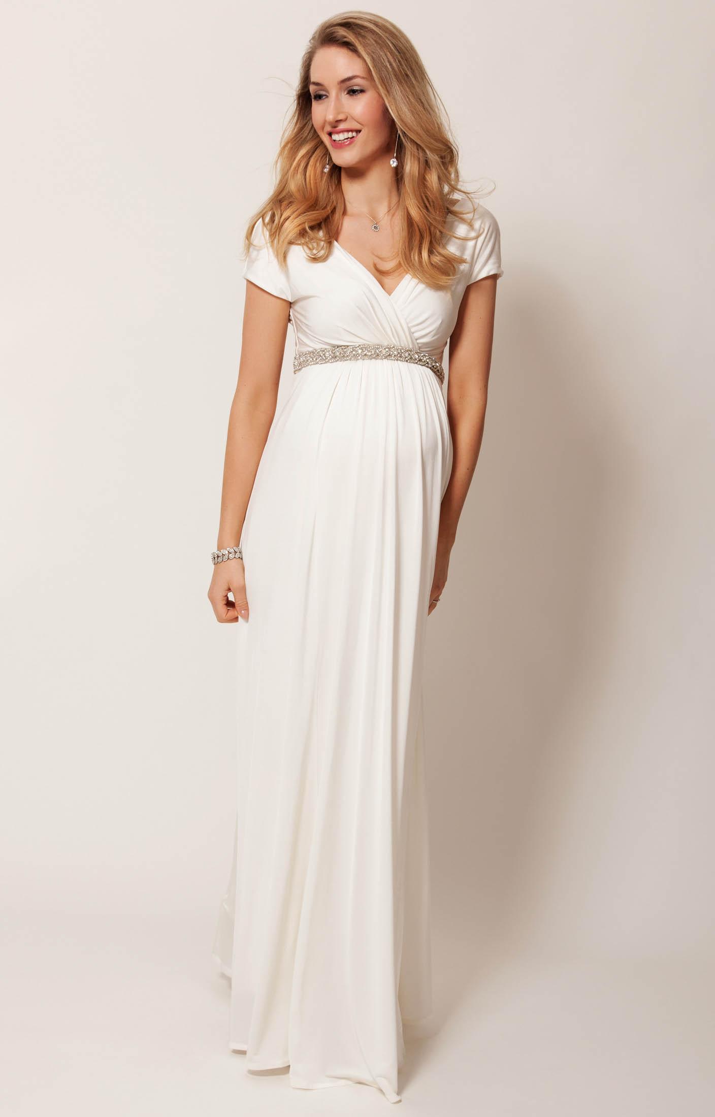 Alessandra Maternity Wedding Gown Long (Ivory) - Maternity Wedding ...