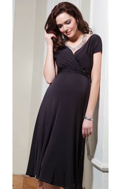 Alessandra Maternity Dress Short (Liquorice) by Tiffany Rose