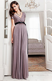 Alessandra Maternity Gown Long (Mink)