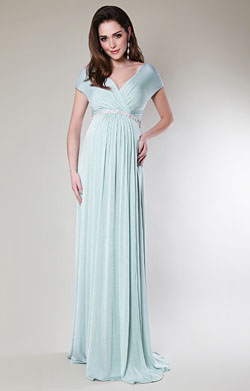 Alessandra Maternity Gown Long (Sea Breeze)