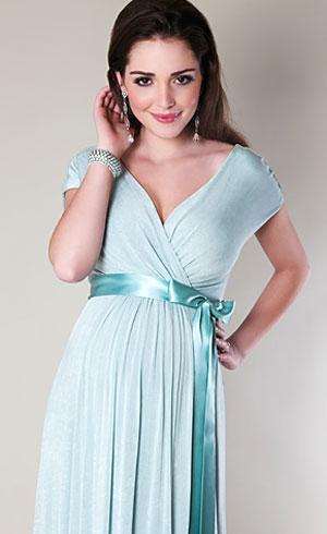 Alessandra Maternity Gown Long (Sea Breeze) - Maternity Wedding ...