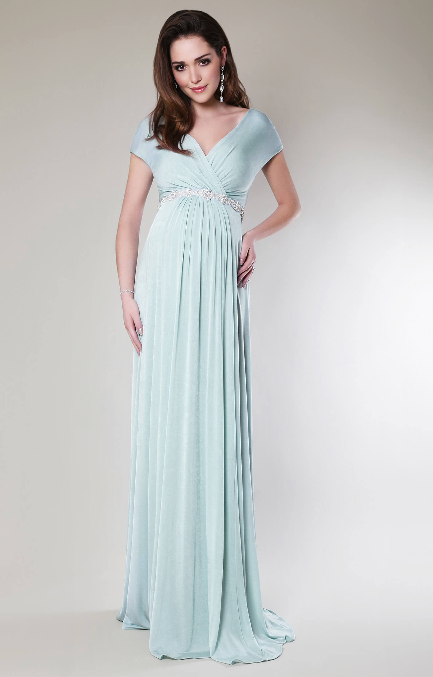 Alessandra Maternity Gown Long (Sea Breeze) - Maternity Wedding ...