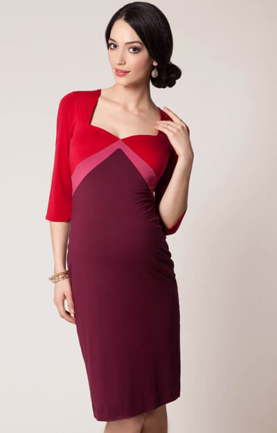 Alexa Maternity Dress Lipstick Rouge by Tiffany Rose