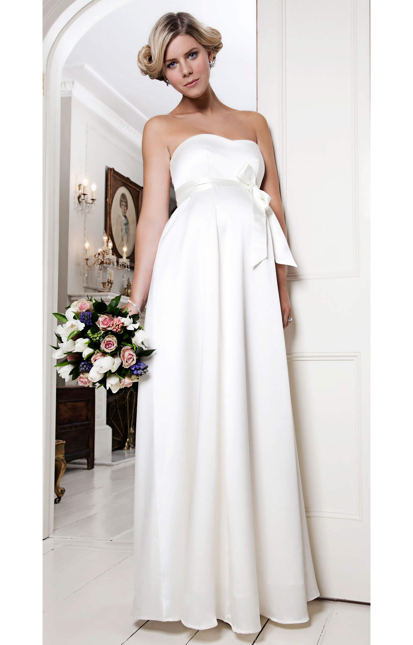Alice maternity wedding gown ivory maternity wedding for Ivory maternity wedding dresses