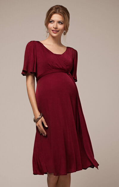 Alicia Nursing Dress Berry by Tiffany Rose
