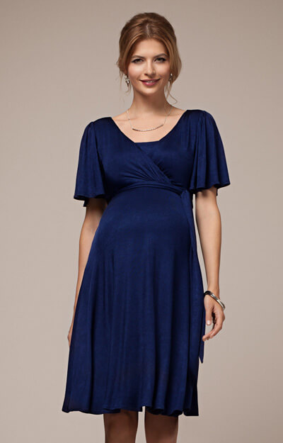 Alicia Nursing Dress Eclipse Blue by Tiffany Rose