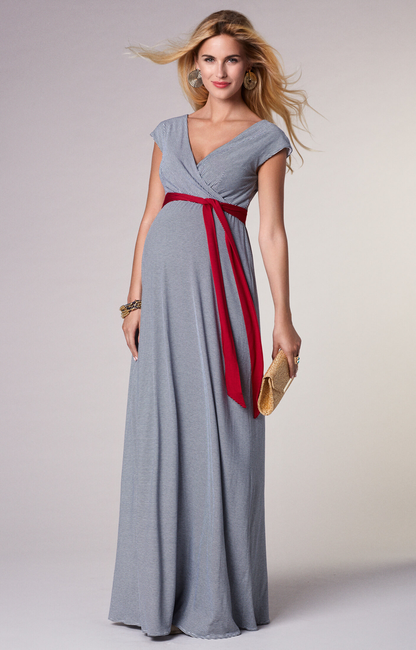 Alana Maternity Maxi Dress Cruise Stripe - Maternity Wedding ...