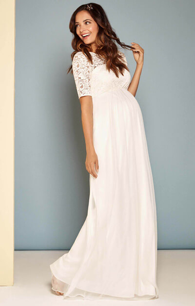 Alaska Maternity Silk Chiffon Wedding Gown by Tiffany Rose