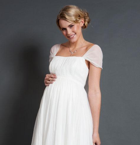 Alya Silk Maternity Wedding Dress (Short) - Maternity Wedding ...