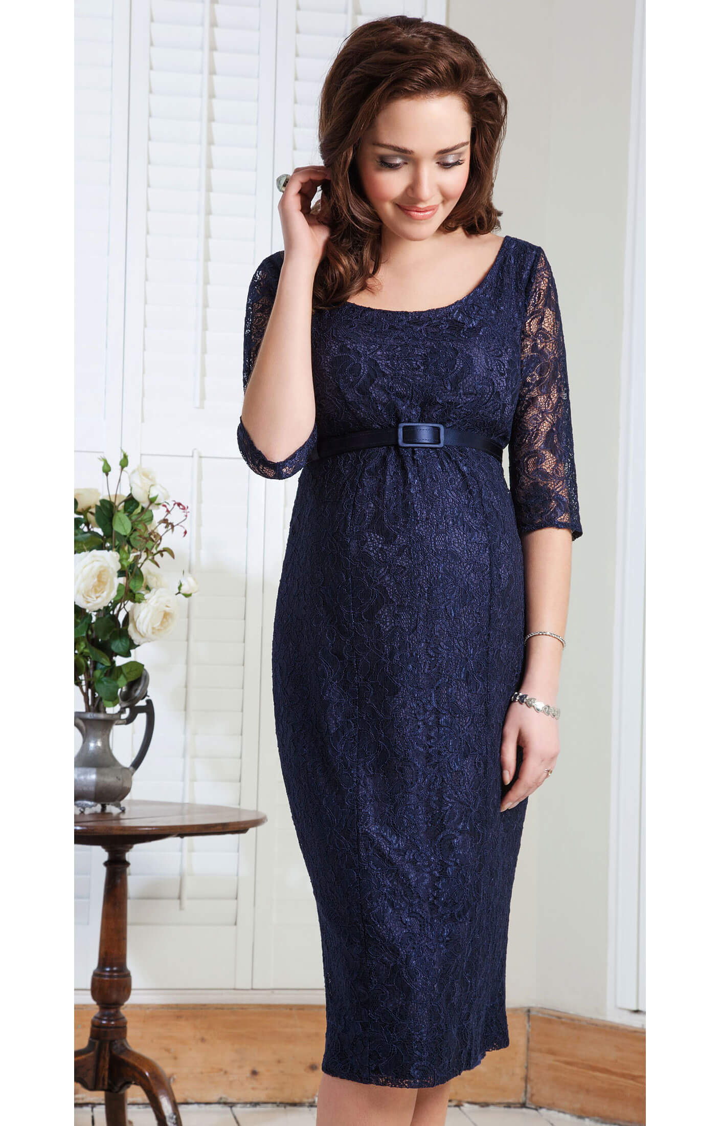 Amber Maternity Dress (Midnight Blue) - Maternity Wedding Dresses ...
