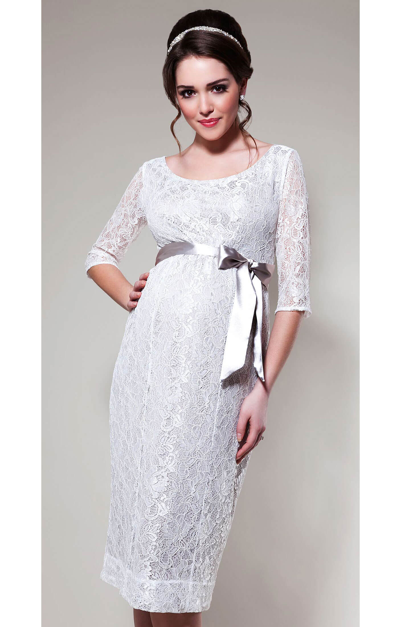 Amber Maternity Dress White Sand Maternity Wedding