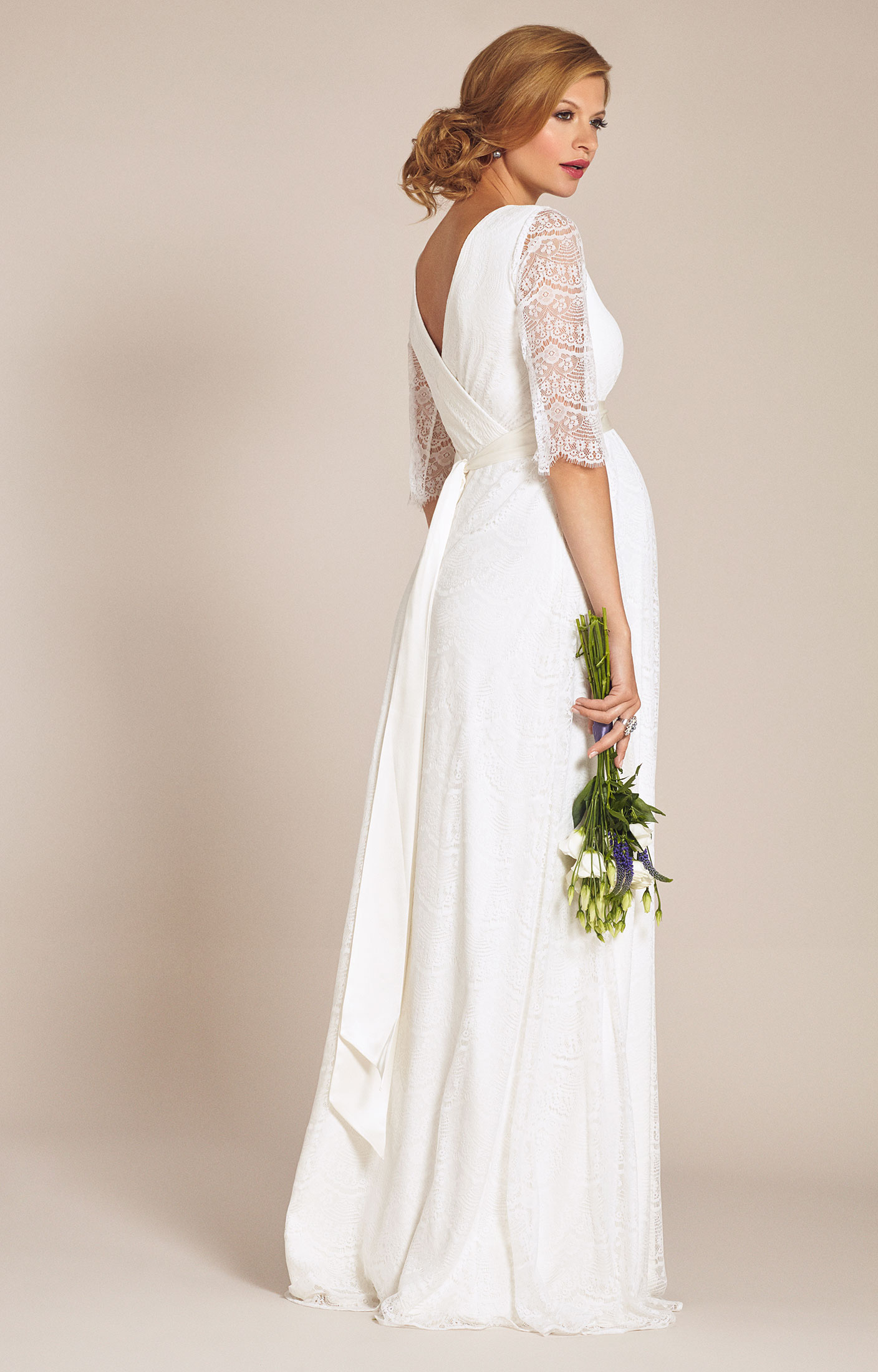 Amily maternity wedding gown ivory maternity wedding for Ivory maternity wedding dresses
