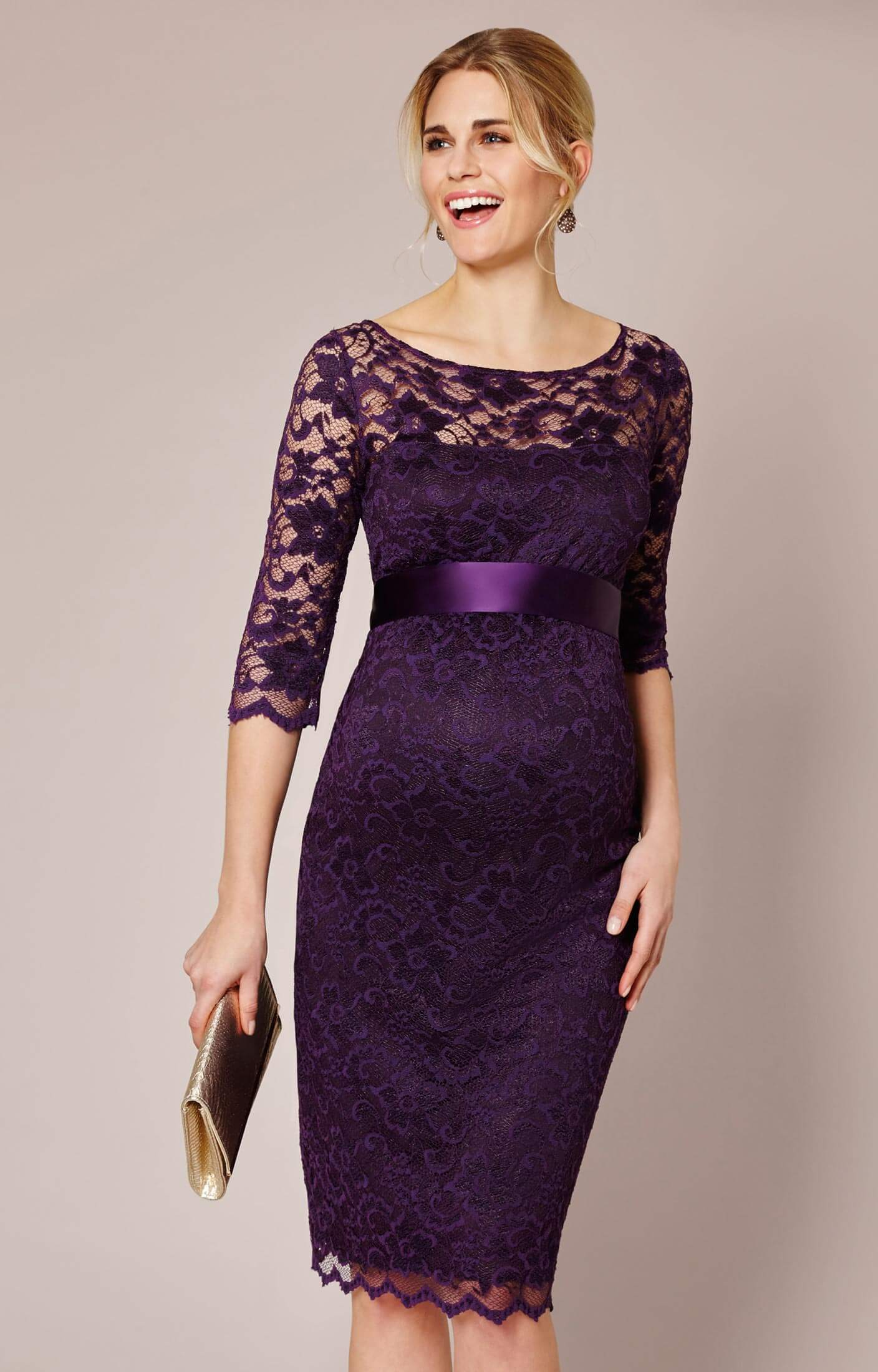 Amelia Maternity Dress Blackberry By Tiffany Rose