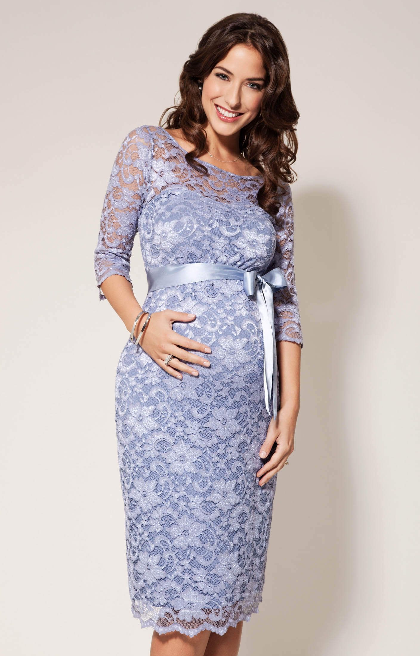 Amelia maternity dress short misty lilac maternity for Wedding guest pregnancy dresses