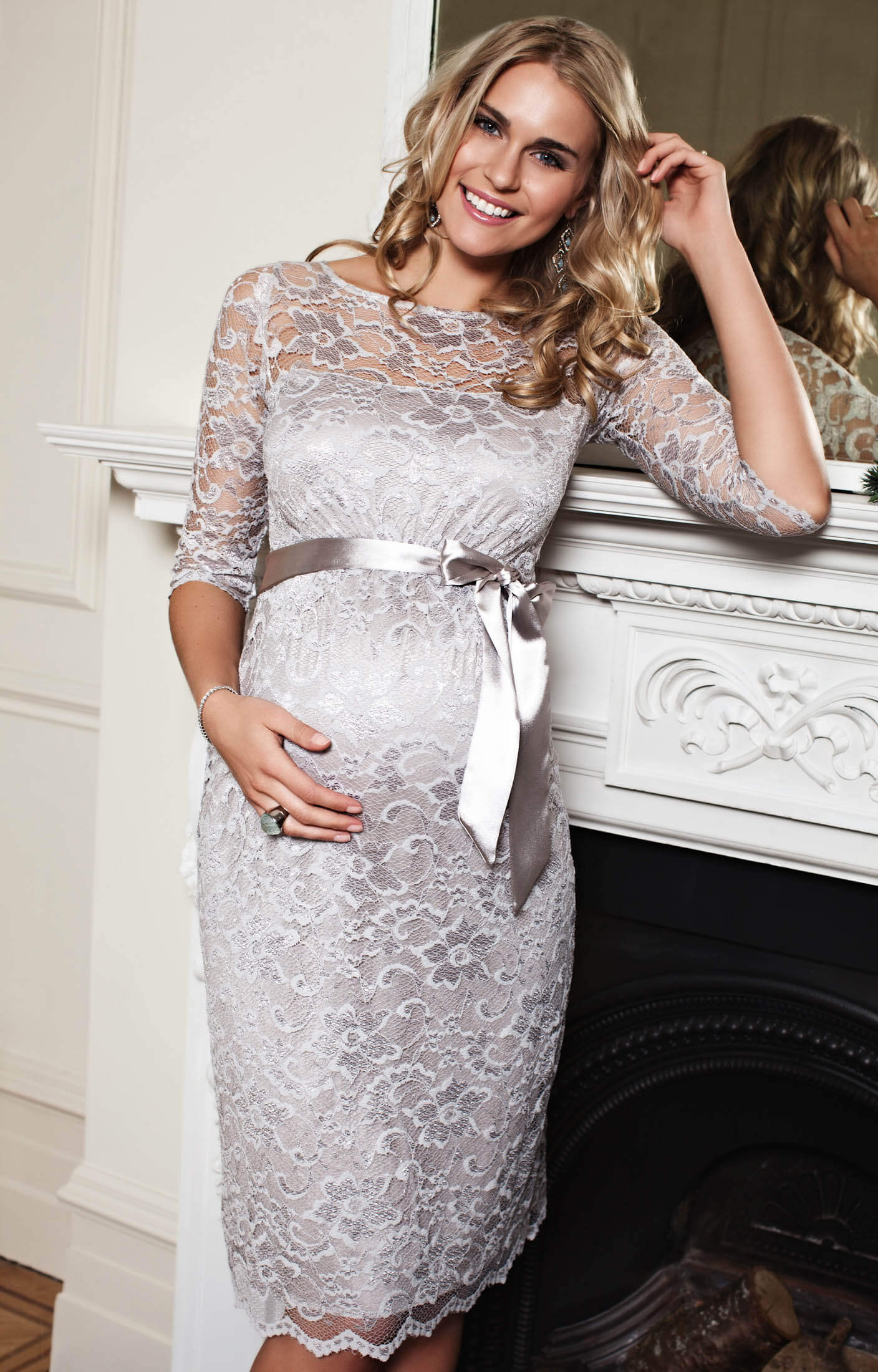28d1a970088f3 Amelia Maternity Dress Short (Silver Moonbeam) - Maternity Wedding ...