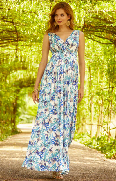Anastasia Maternity Gown Long Blue Nile by Tiffany Rose