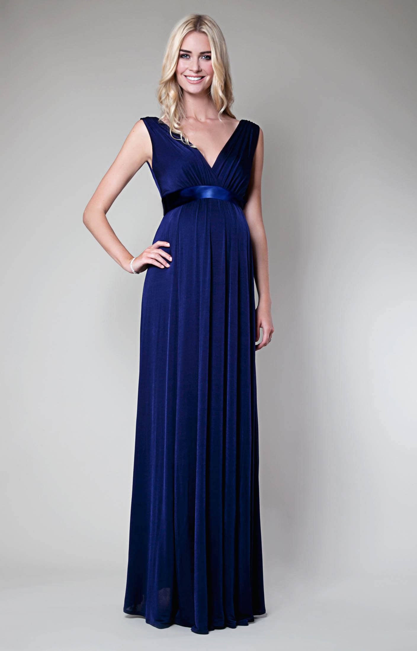 Anastasia Maternity Gown Eclipse Blue - Maternity Wedding Dresses ...