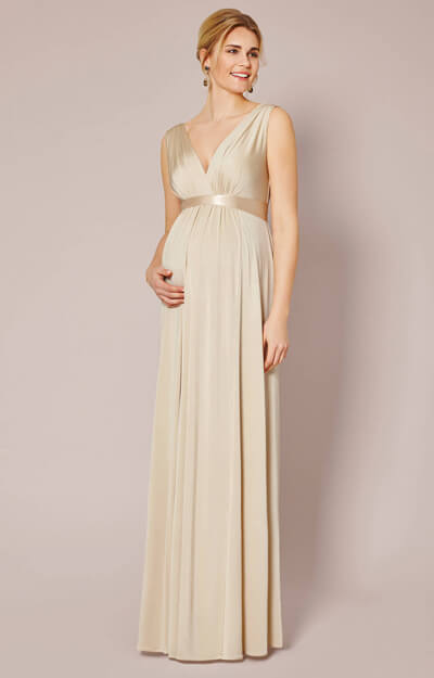 Anastasia Maternity Gown (Gold Dust) by Tiffany Rose
