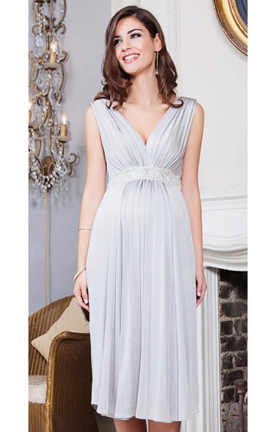 Anastasia Maternity Dress Short (Silver Screen) by Tiffany Rose