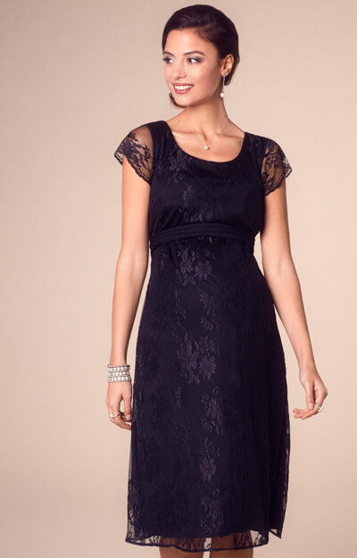 April Maternity Nursing Dress Black by Tiffany Rose