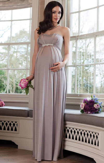 Annabella maternity gown cappuccino by Tiffany Rose