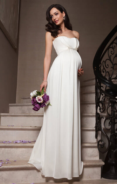 Annabella Maternity Wedding Gown (Ivory) by Tiffany Rose
