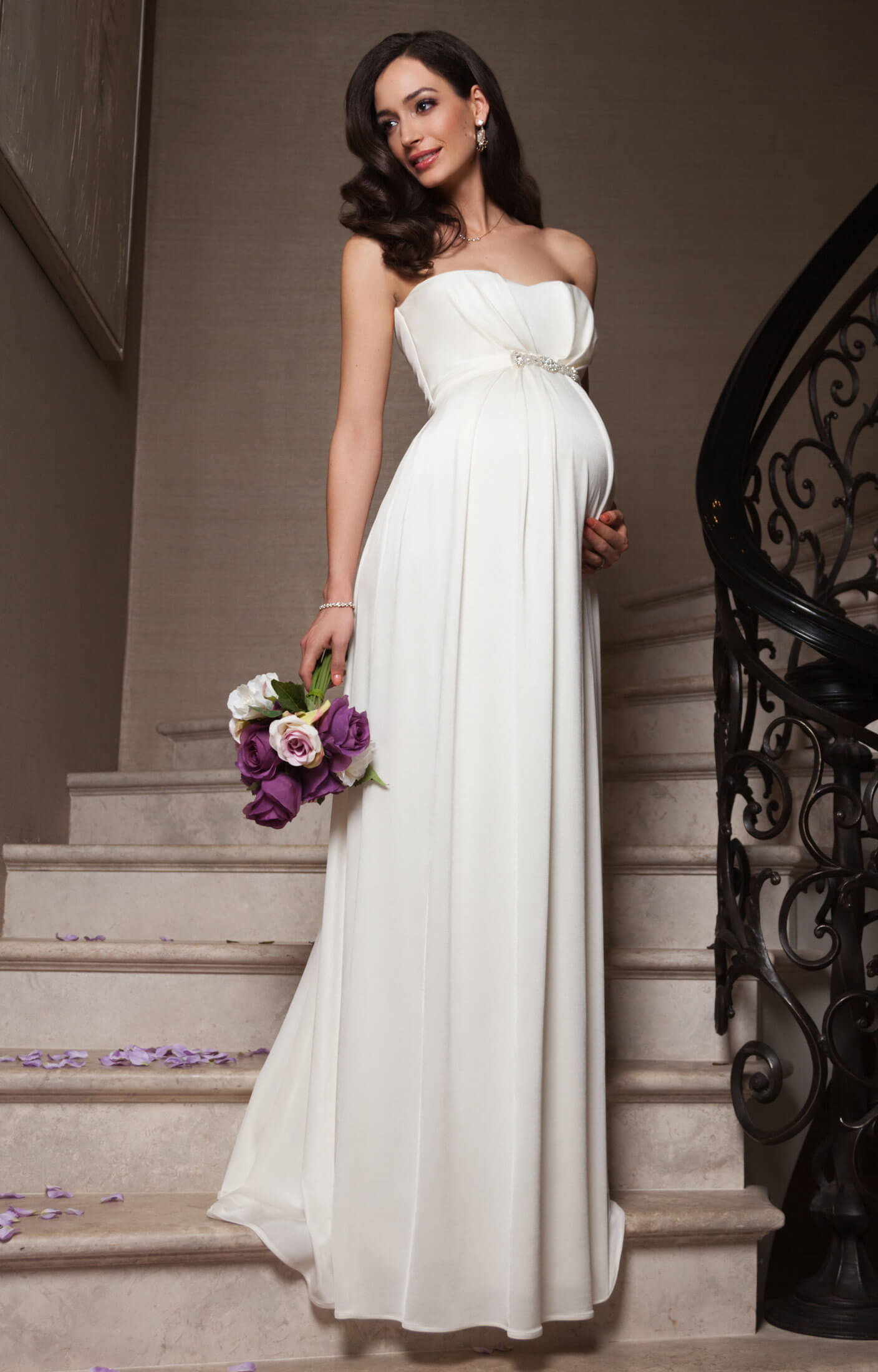 Annabella Maternity Wedding Gown (Ivory) - Maternity Wedding Dresses ...