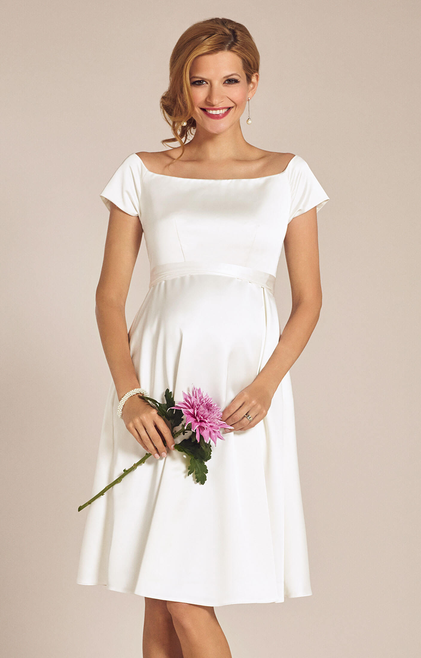 Aria maternity wedding dress ivory maternity wedding for Ivory maternity wedding dresses