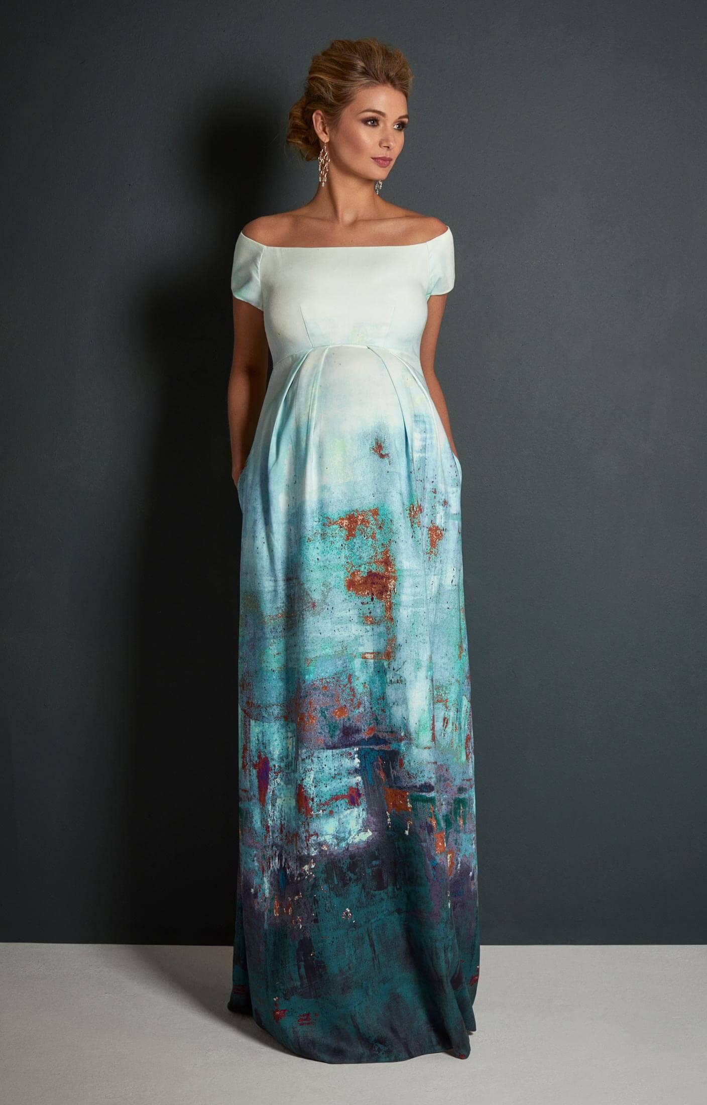0f1a8c306fae Aria Off Shoulder Maternity Gown Aquatic Ombré - Maternity Wedding ...