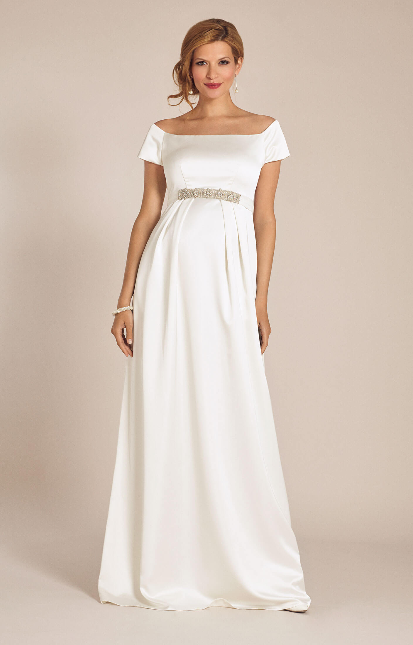 Aria maternity wedding gown ivory maternity wedding for Maternity dress for a wedding