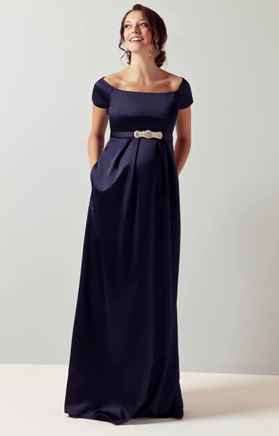 Aria Maternity Gown Midnight Blue by Tiffany Rose