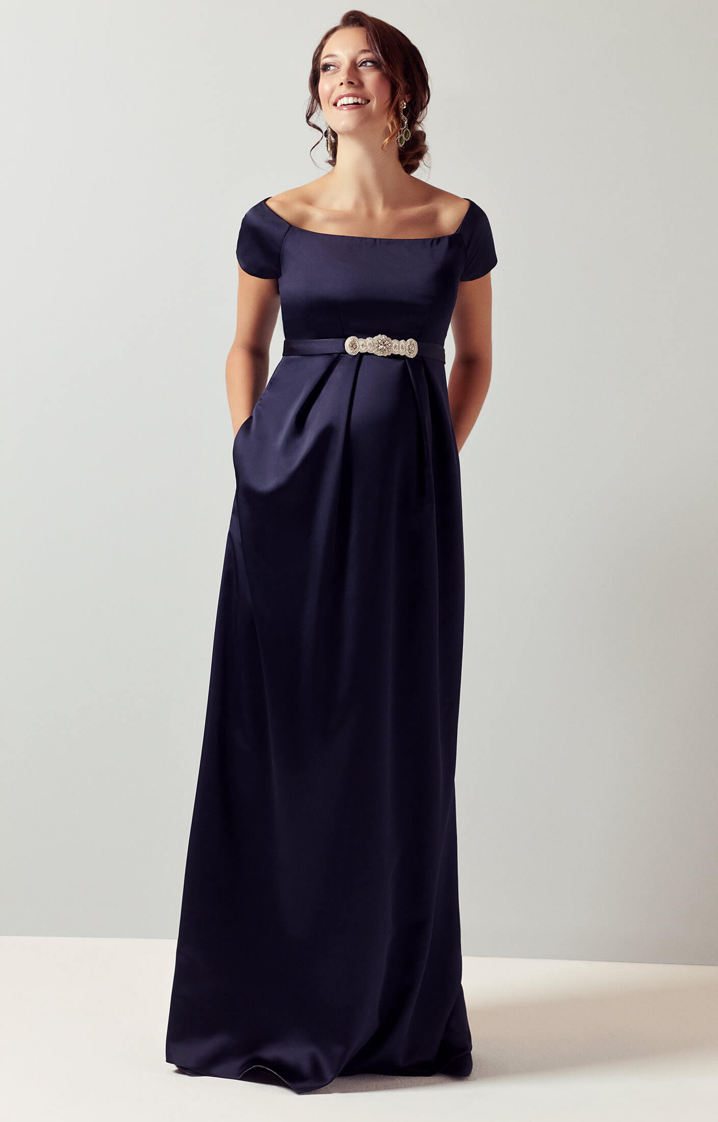 Aria Maternity Gown Midnight Blue - Maternity Wedding Dresses ...