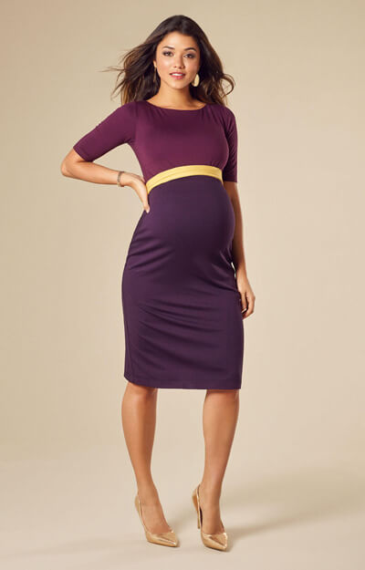 Anna Shift Maternity Dress Imperial by Tiffany Rose