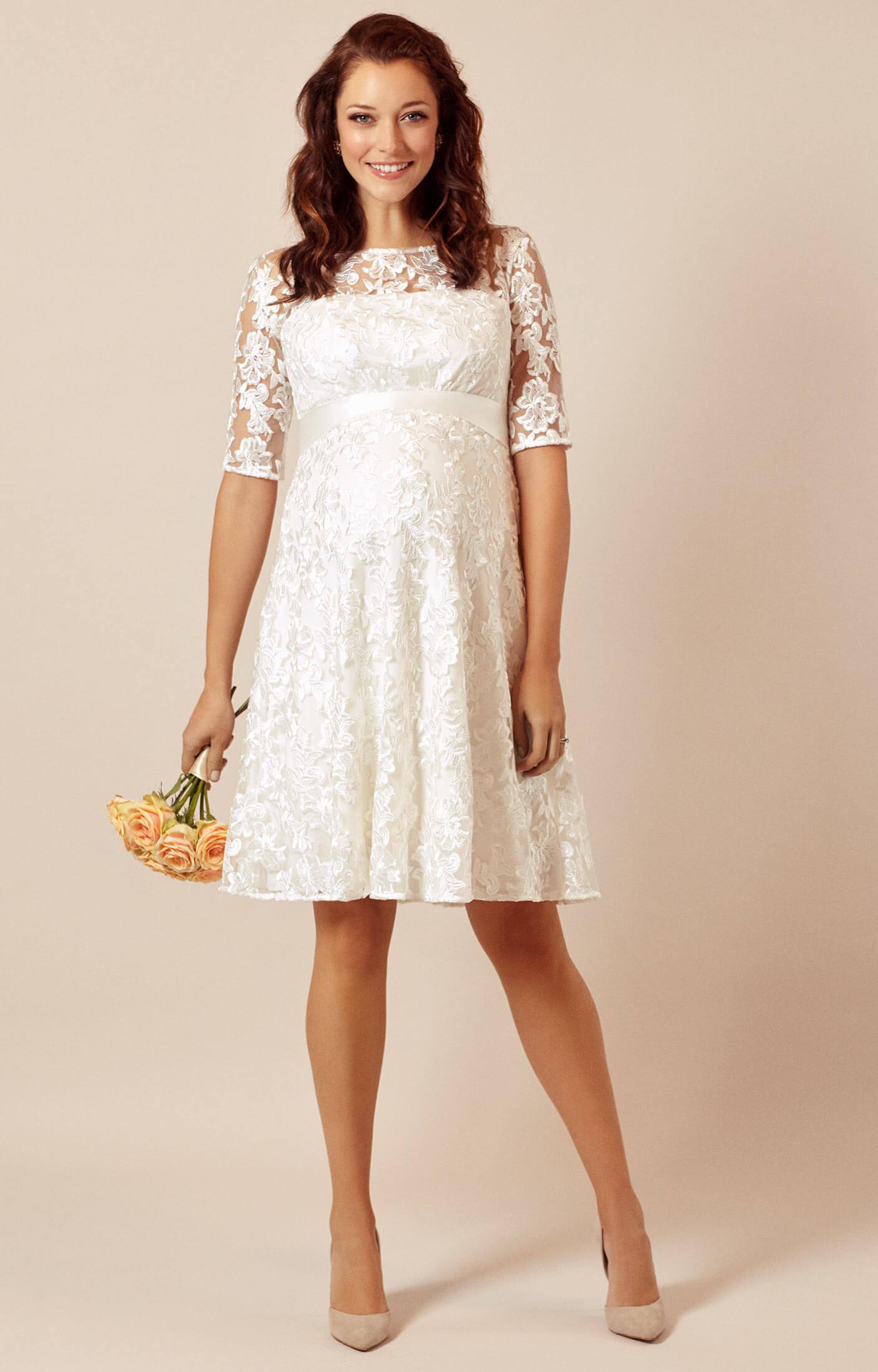 Asha Umstandsmoden-Hochzeitskleid In Elfenbein ...