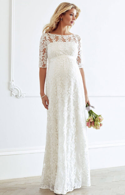 Asha Maternity Wedding Gown Ivory White by Tiffany Rose