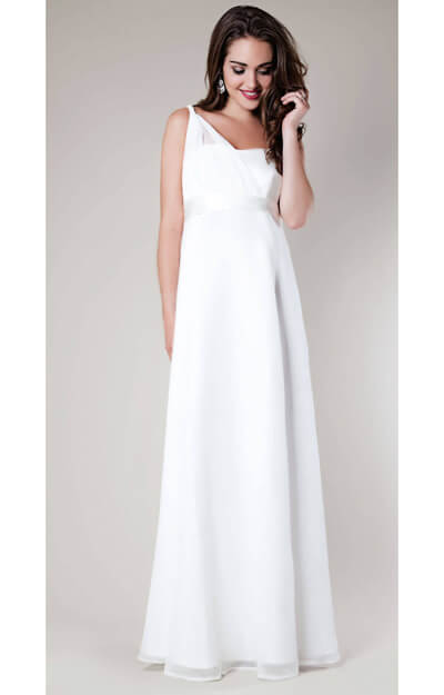 Asymmetrical Maternity Wedding Gown by Tiffany Rose