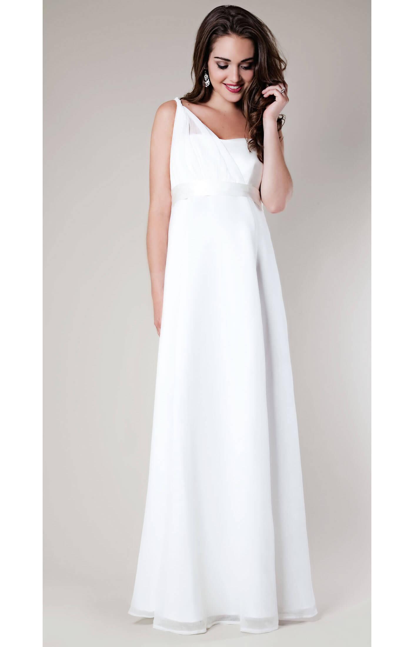 Asymmetrical maternity wedding gown maternity wedding for Shirt dress wedding gown