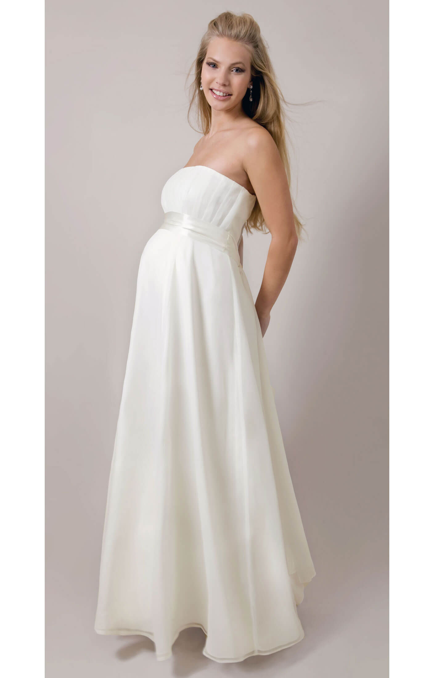Athena maternity gown maternity wedding dresses evening for Maternity dresses for wedding party