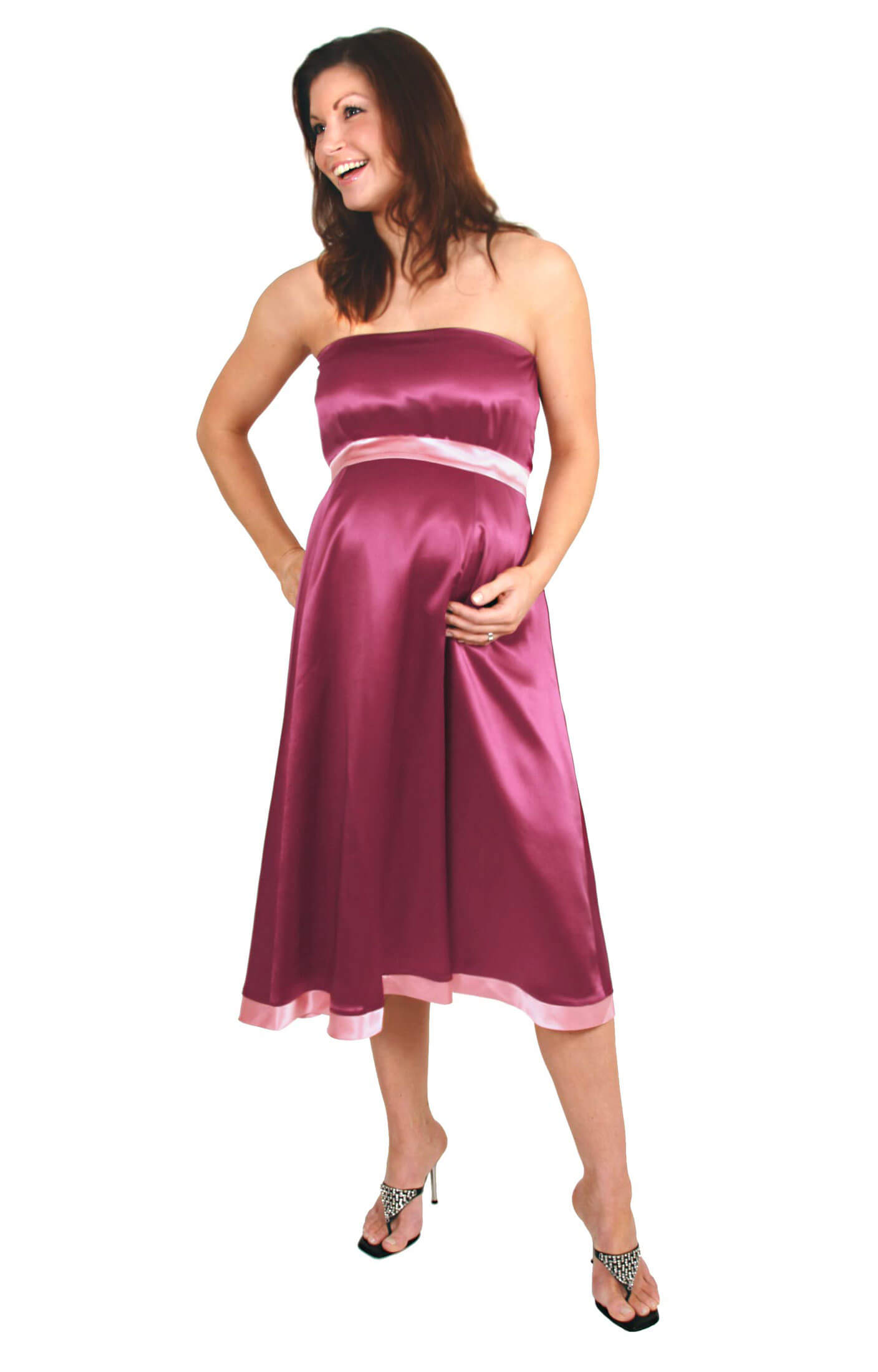 Silk atlantis maternity gown claret by tiffany rose