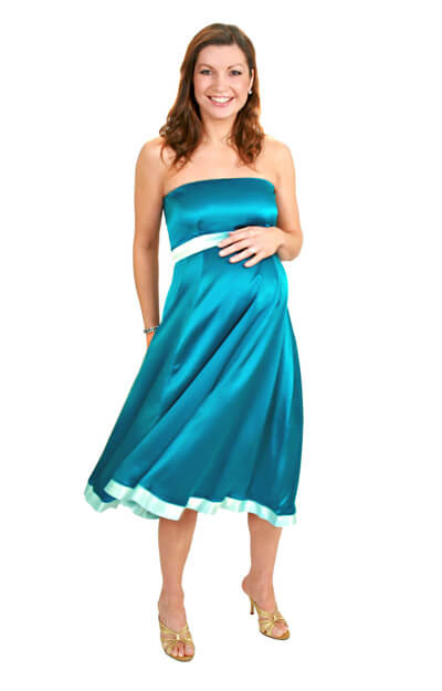 Silk Atlantis Maternity Gown (SEA) by Tiffany Rose