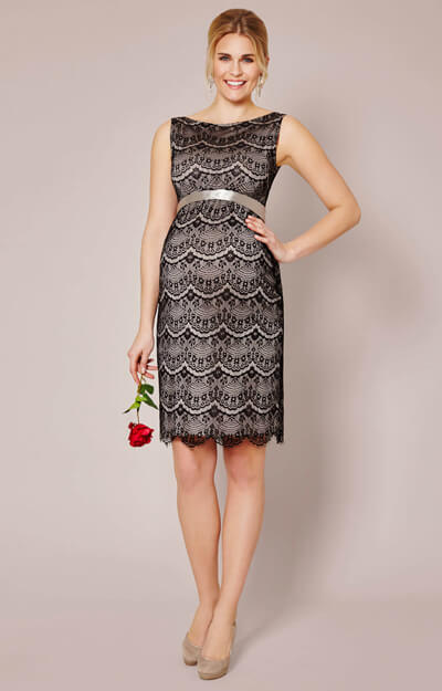 Audrey Shift Maternity Dress (Black) by Tiffany Rose