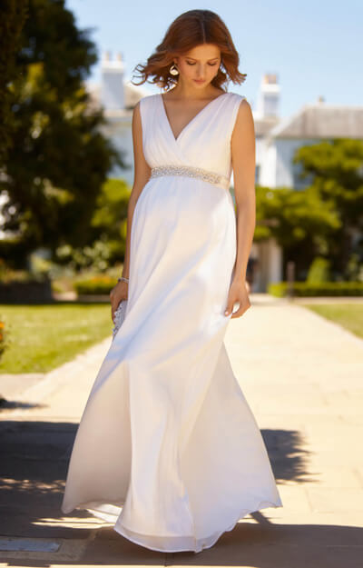 Ava Maternity Wedding Gown Long Ivory by Tiffany Rose