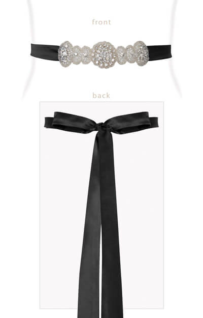 Aurelia Vintage Sash Black by Tiffany Rose