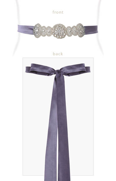 Aurelia Vintage Maternity Sash in Grape by Tiffany Rose