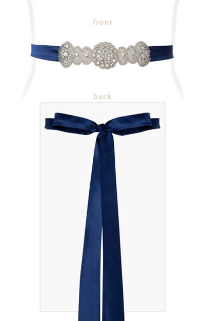 Aurelia Vintage Maternity Sash Windsor Blue by Tiffany Rose