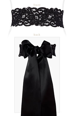 Black Lace Sash