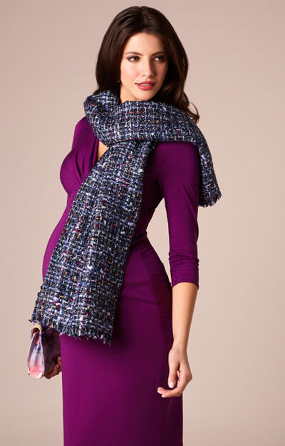 Bouclé Maternity Accessory Scarf Blue by Tiffany Rose