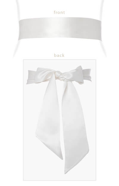 Faux Silk Sash Long Ivory by Tiffany Rose