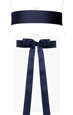 Grosgrain RIbbon Sash (Midnight Blue)